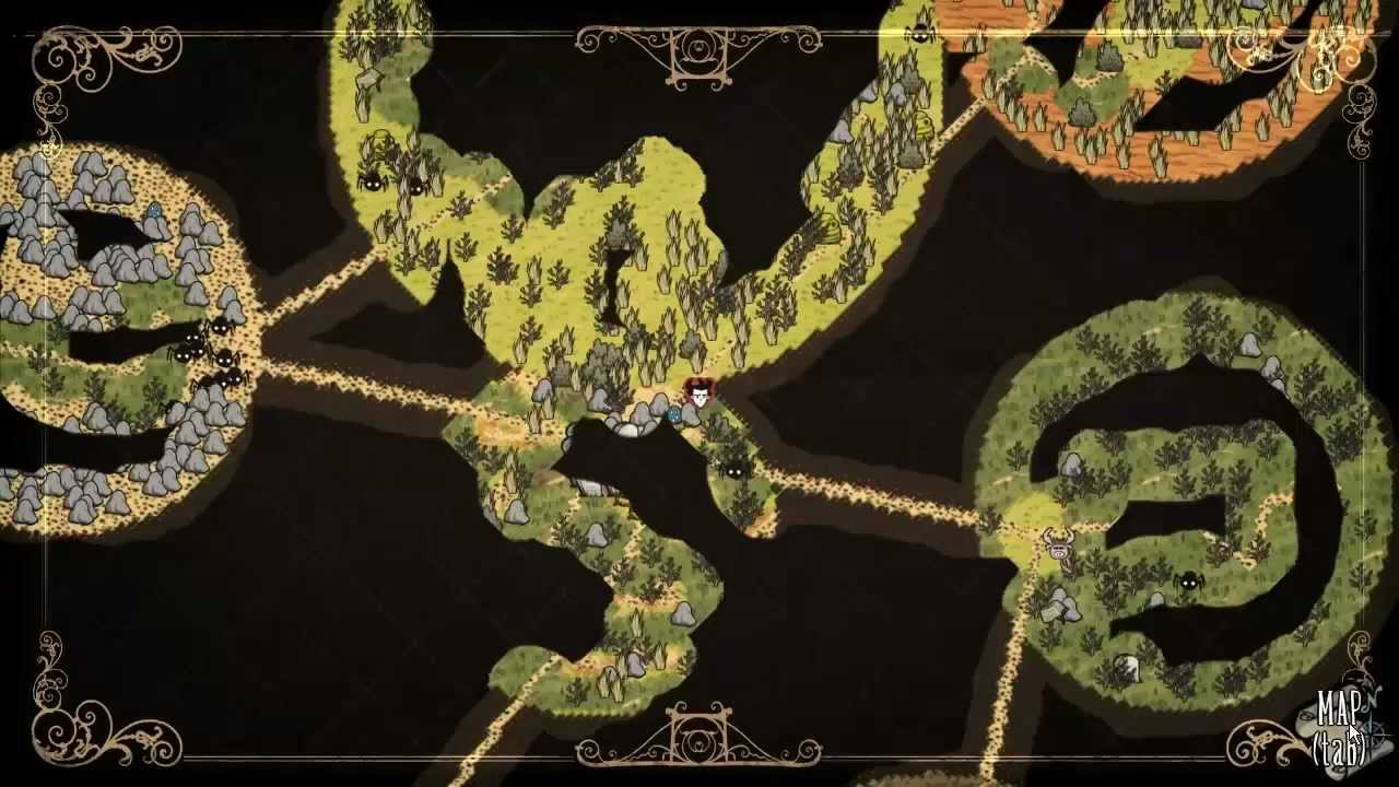 Let's Play Don't Starve 'J' 132 Map sort of Complete - YouTube on