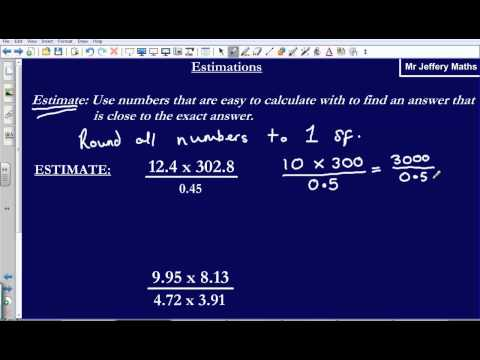 Estimation (GCSE Edexcel Maths)