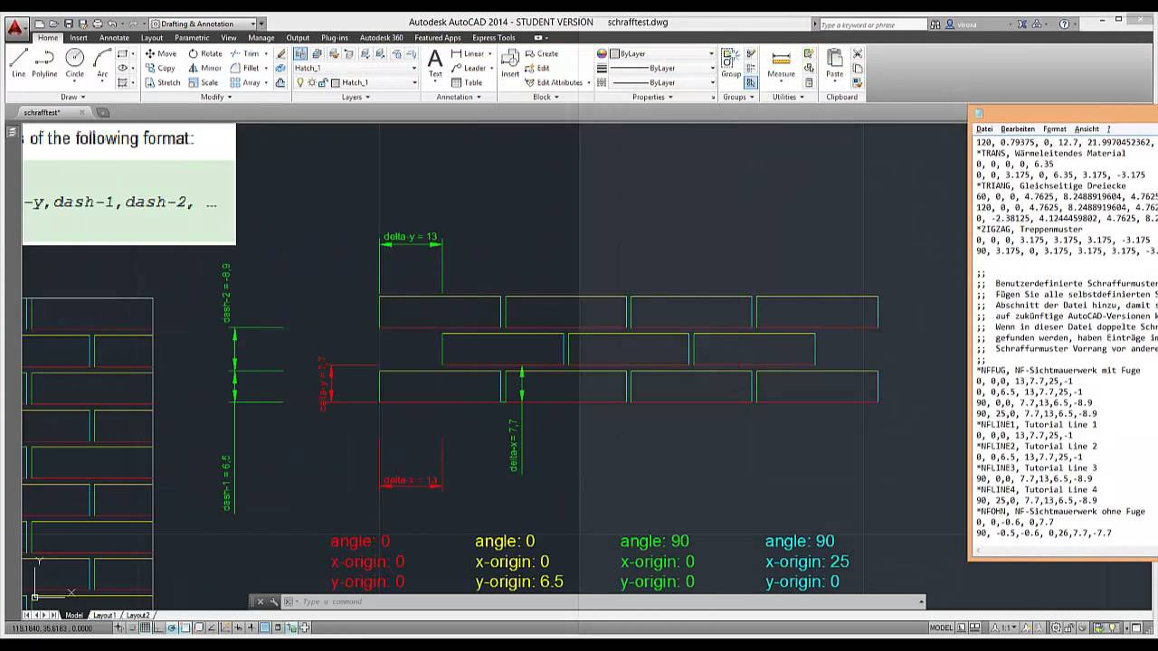 Autocad Customization Create Your Own Hatch Patterns