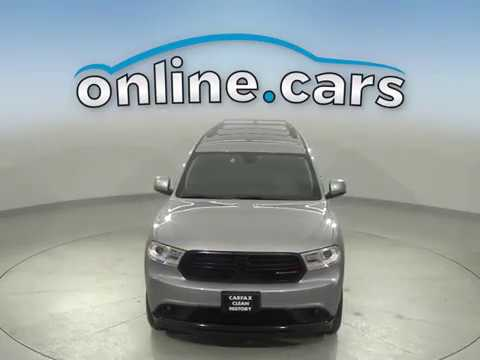 G16675NA Used 2016 Dodge Durango Silver SUV Test Drive, Review, For Sale