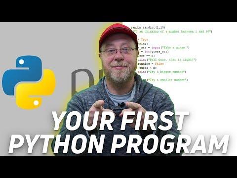 Python Tutorial - Your First Program