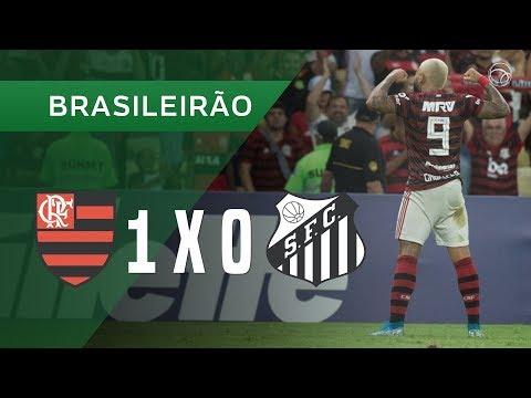 FLAMENGO 1 X 0 SANTOS - GOL - 14/09 - BRASILEIRÃO 2019