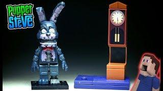 Five Nights at Freddy's Grandfather Clock NIGHTMARE BONNIE Mcfarlane Toys FNAF Lego Unboxing Playset