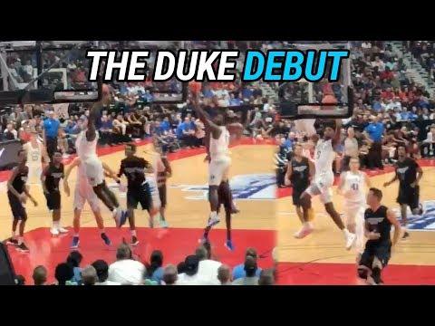 Zion Williamson & RJ Barrett Make Their DUKE DEBUT! Combine For 63 Points! Full Highlights 🔥