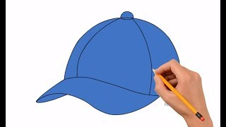 How to Draw a Baseball Cap Step by Step Easy For Kids