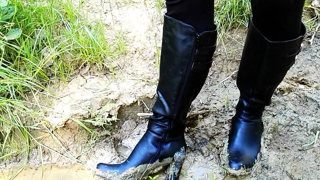 High Heel Boots In Mud Part 1 Youtube
