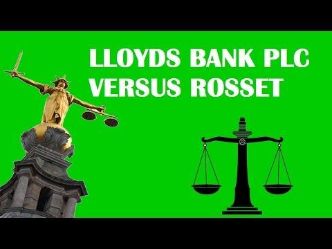 Lloyds Bank PLC vs Rosset