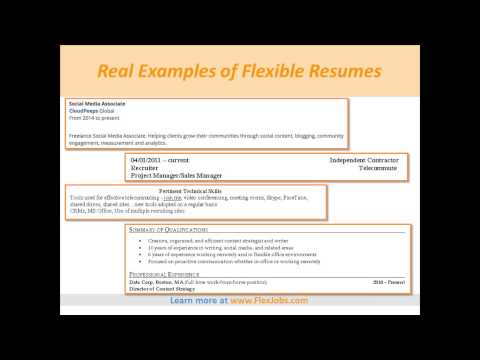 Crafting Resumes and Cover Letters for Flexible Jobs, by FlexJobs