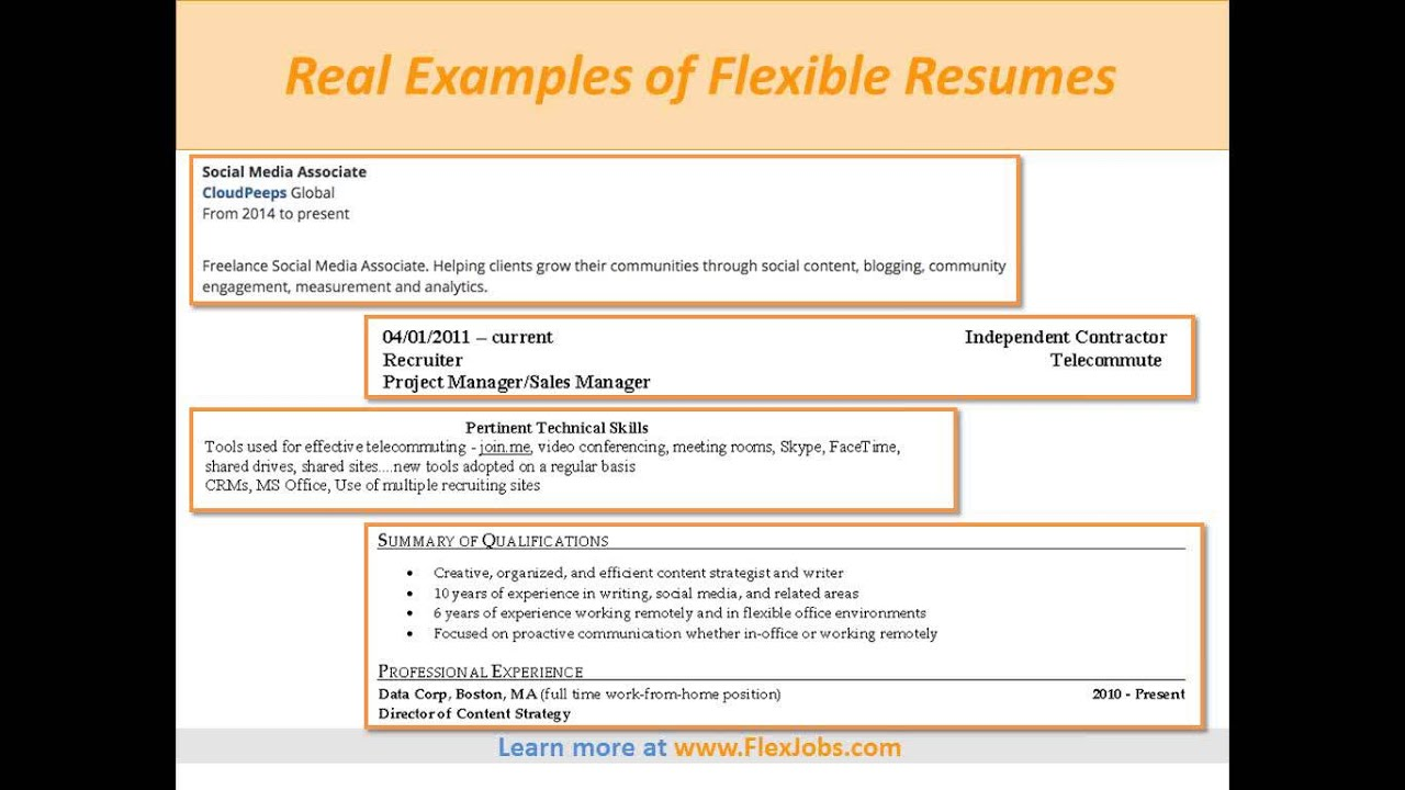 Crafting Resumes And Cover Letters For Flexible Jobs By Flexjobs