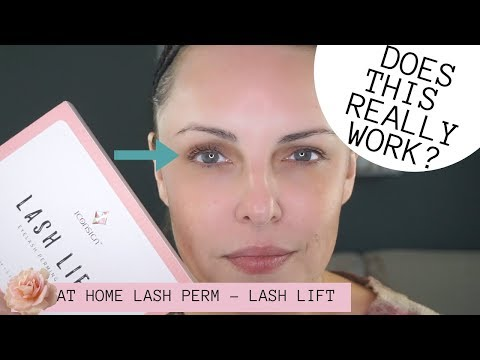 AT HOME LASH LIFT - LASH PERM || Does It Really Work???