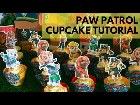 How To Make Paw Patrol Cupcake Toppers And Wrappers | FREE Templates Included