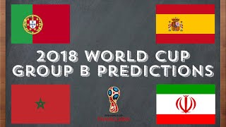2018 world cup group b predictions/analysis