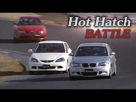 [ENG CC] Hot Hatch Battle - Integra R DC5, BMW 130i M, Golf R32, 147 GTA, Audi A3 Tsukuba 2006