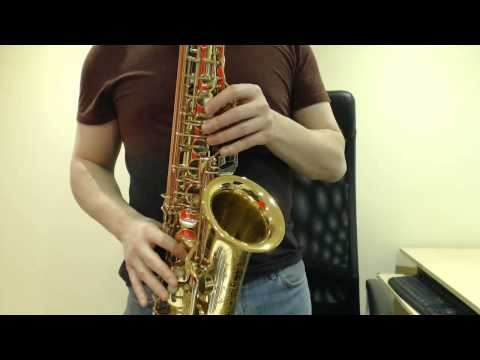 How to play the D Blues Scale on Saxophone (Beginner Saxophone Lesson BC305)