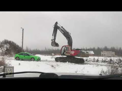 See what that green car owner did when he killed the crane's owner