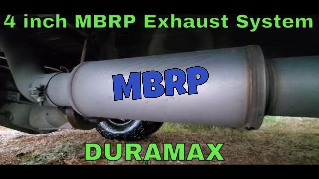 lb7 duramax 4 inch mbrp exhaust system throaty roar