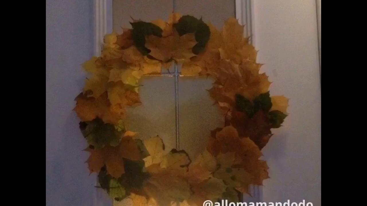 Deco D Automne Facile couronne d'automne diy déco facile pour les enfants!