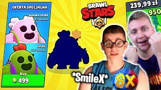 KUPIŁEM SmileX 'owi LEGENDĘ z NIESAMOWITYM SKINEM w BRAWL STARS za 500 GEMÓW! *ANTY PRANK*   Da Mian