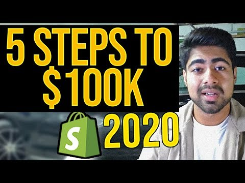 5 Steps To $100K With Shopify Aliexpress Dropshipping In 2020 thumbnail