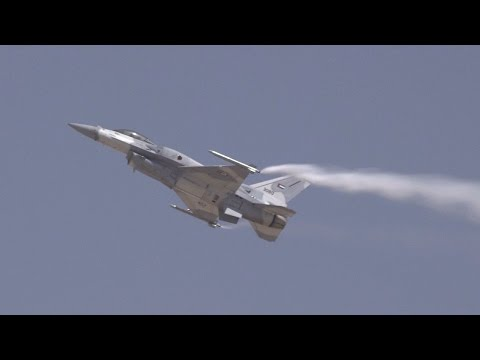 UAE F-16 Prepares for Dubai Airshow Flying Display – AINtv Express