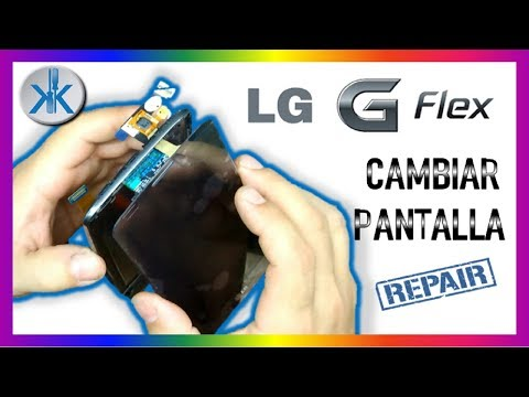 👍 LG G-Flex Curbo Replace Touch Screen Como Cambiar Pantalla Tactil Lcd
