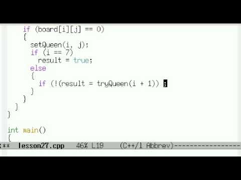 Урок 27. C++ Задача о восьми ферзях