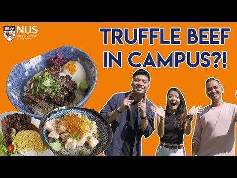 SEARCH FOR THE BEST UNI FOOD: NATIONAL UNIVERSITY OF SINGAPORE | TSL Vlogs
