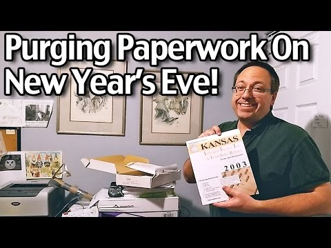 Purging Paperwork On New Year's Eve! Decluttering and Organizing!
