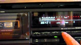 Technics RS-B965 tape deck short demo
