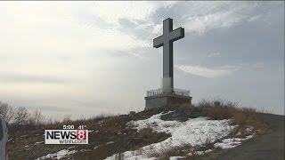 Holy Land Cross vandalized with graffiti in Waterbury
