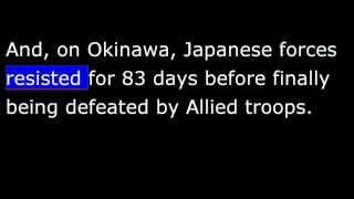American History - Part 187 - FDR - War in Pacific - Hiroshima - Japan surrender