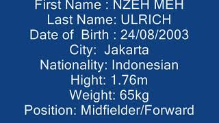 Nzeh Meh Ulrich, Wonderkid Asal Indonesia Yang Bertalenta