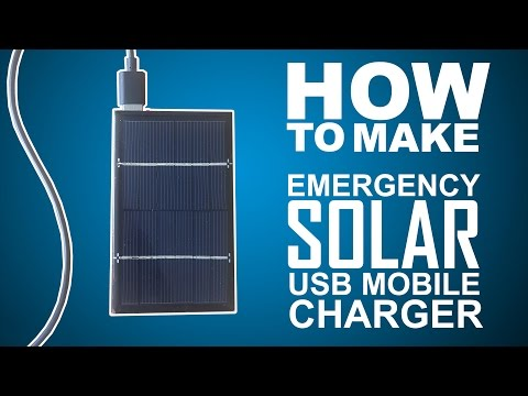 How To Make Emergency USB Solar Charger Power bank Easy Way