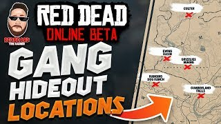 """All GANG """"TREASURE"""" HIDEOUTS LOCATIONS in Red Dead Online! Tips & Tricks"""