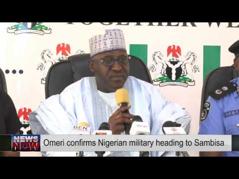 Nigerian troops heading to Sambisa forest- Omeri