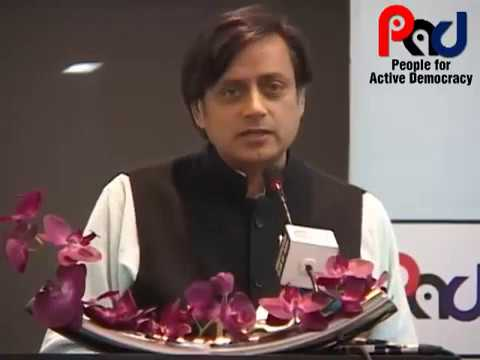 PAD Talk by Dr. Shashi Tharoor on Efficacy of the Parliamentary System of Governance
