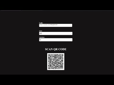 QR Code Generator Page Html Css