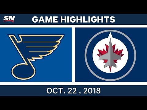 NHL Highlights | Blues vs. Jets - Oct. 22, 2018