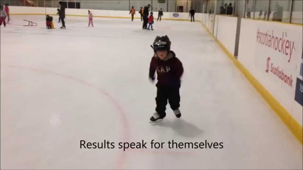 4 Year Old Learned To Ice Skate In 6 Public Skates On Balance Blades   Youtube