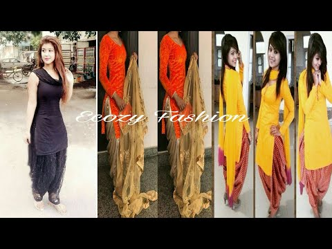 Indian stylish Designer Punjabi Suits | Patiala Salwar Suits Kameez Designs