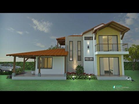 Planos de casa campestre moderna ref kaitlin doovi for Techos de casas en honduras