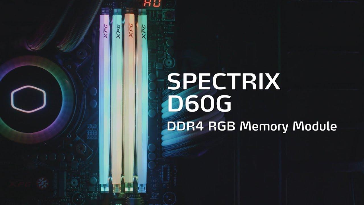 SPECTRIX D60G DDR4 RGB Memory Module_XPG_Xtreme Performance Gear