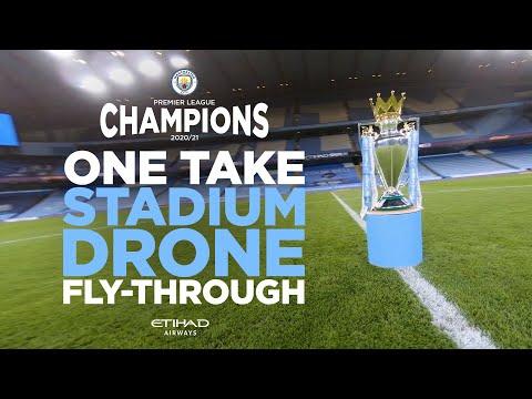 MUST WATCH! Single Shot Drone Flight! | The Etihad like never before | Premier League Champions