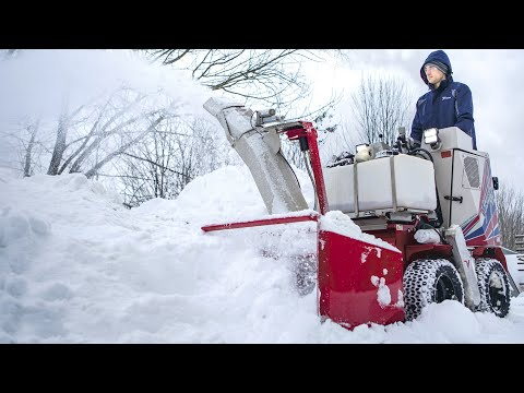 Snow Blower, Broom & Plow - SSV Stand On Skid Steer - Real World Work