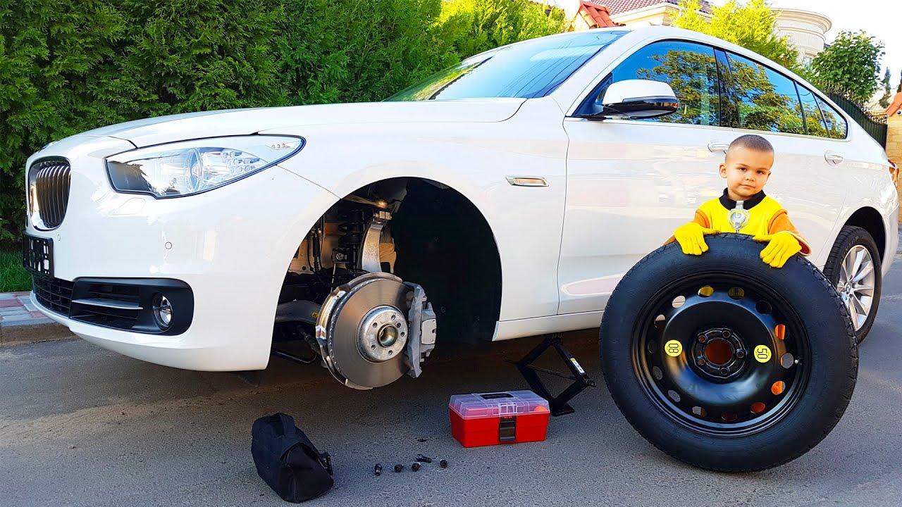 Отвалилось колесо у Bmw 5 | Дима и Машинки