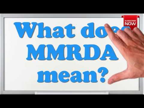 What is the full form of MMRDA?