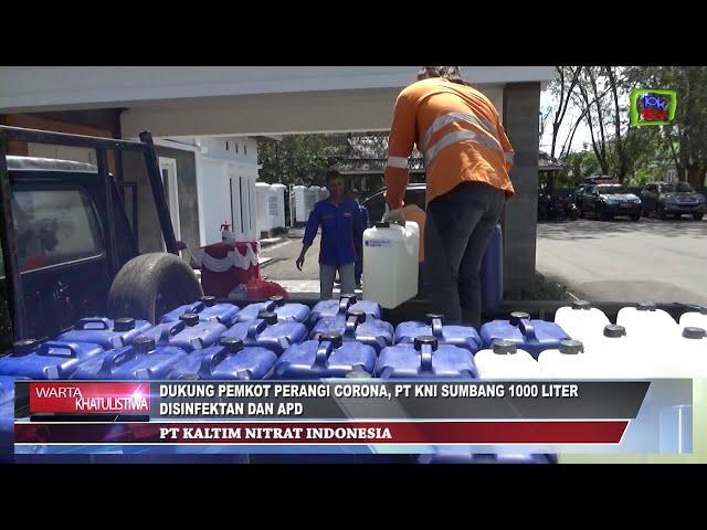 Dukung Pemkot Perangi Covid-19, PT KNI Sumbang 1000 Liter Disinfektan Dan APD