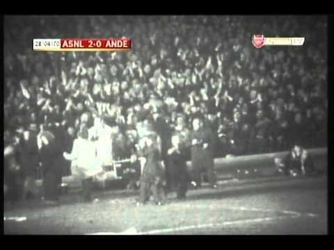 1970 April 28 Arsenal England 3 Anderlecht Belgium 0 Inter Cities Fairs Cup