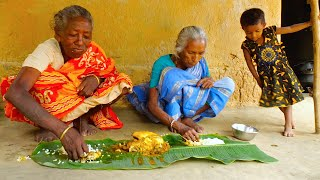 FULL CHICKEN RECIPE | Tribe grandmothers cooking full chicken in a handi | village cooking review