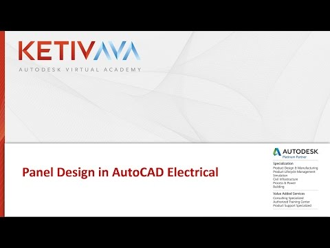 Autodesk Virtual Academy: Panel Design in AutoCAD Electrical